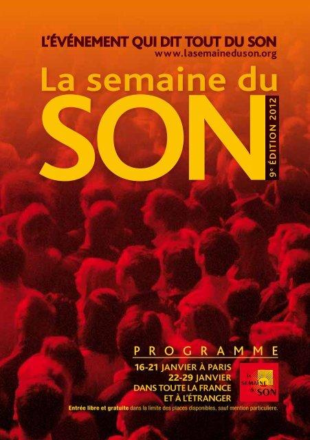 programme - La Semaine du Son