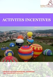 activites incentives - Belfort Tourisme