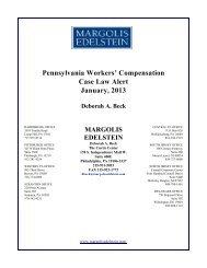 Pennsylvania Workers - Margolis Edelstein