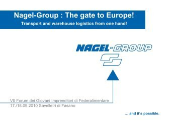 Nagel-Group : The gate to Europe! - Federalimentare