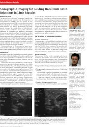 Sonographic Imaging for Guiding Botulinum Toxin Injections ... - ACNR