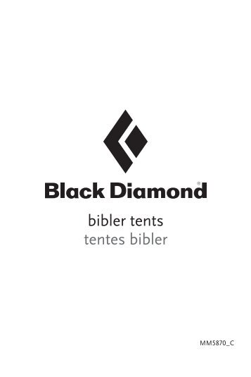 bibler tents tentes bibler - English - Black Diamond  sc 1 st  Yumpu & tempest 1. 2-person 2 do