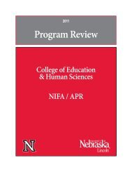 CEHS NIFA/APR - the College of Education and Human Sciences ...