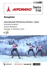Atomic Swiss Cup Internationales FIS-Rennen ... - ProTiming
