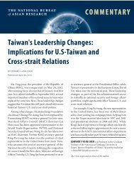 Implications for US-Taiwan and Cross-strait Relations - The National ...