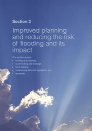 Improved planning and reducing the risk of flooding and its ... - BD
