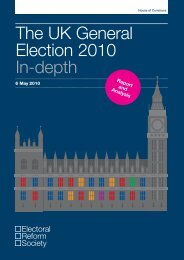The UK General Election 2010 In-depth - Electoral Reform Society