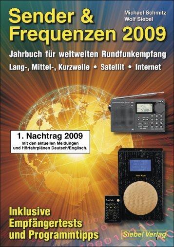 Nachtrag 1 für Sender & Frequenzen 2009