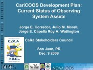 Caricoos Development Plan and Current Status of ... - CaRA - UPRM