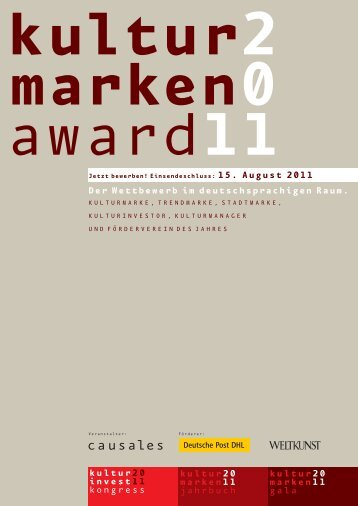 Kulturmarke des Jahres 2011 - Stadtmarketing Austria