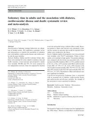 Sedentary time in adults and the association with diabetes ...