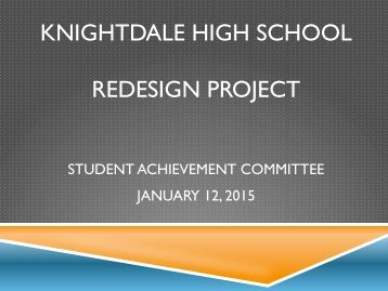 Knightdale High School of Collaborative Design 1-12-15 Student Achievement Committee_335922pldjiabhvnneu45m0pssy2e