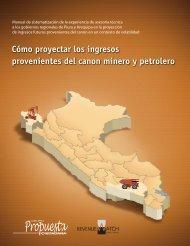 Cómo proyectar ingresos provenientes del canon minero y petrolero