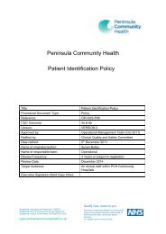 Patient Identification Policy - the Royal Cornwall Hospitals Trust ...