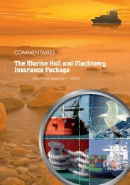 The Marine Hull and Machinery Insurance Package - Fortunes de mer