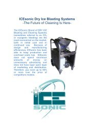 ICEsonic Dry Ice Blasting Systems -The Future of Cleaning Is Here-