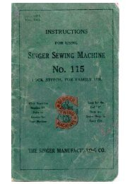 Singer Model 115 Manual - ISMACS