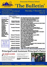2011 Newsletter 37 - Doncaster Primary School