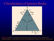 Chapter 2- Classification of Igneous ROcks - Faculty web pages