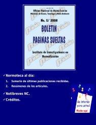 No. 5/ 2008 - Boletín Páginas Sueltas