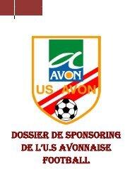 DOSSIER DE SPONSORING DE L'U.S AVONNAISE FOOTBALL