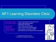 NF1 Learning Disorders Clinic - CHERI - The Children's Hospital ...