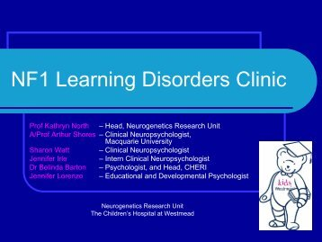 NF1 Learning Disorders Clinic - CHERI - The Children's Hospital ...