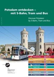mit S-Bahn, Tram und Bus - Stadtwerke Potsdam