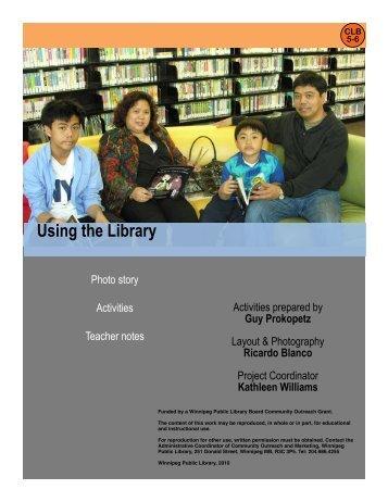 Using the Library - Winnipeg Public Library - City of Winnipeg
