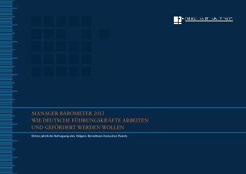 managerhbarometer 2013 wie deutsche ... - Odgers Berndtson