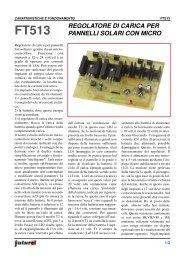 regolatore di carica per pannelli solari con micro - Futura Elettronica
