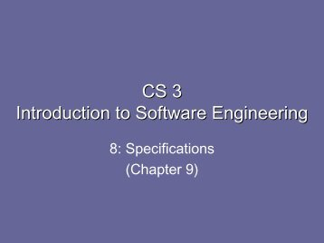specifications - Caltech