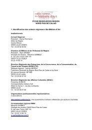 FICHE RESSOURCES REGION NORD-PAS-DE-CALAIS 1 ...