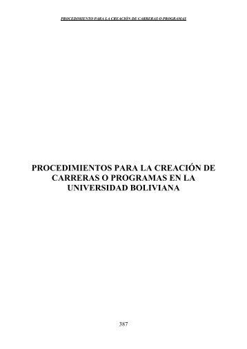 Documento - Comité Ejecutivo de la Universidad Boliviana