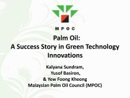 Palm Oil: A Success Story in Green Technology Innovations