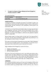 1 1. Forslag til overtagelse af Region Midtjyllands tilbud beliggende i ...