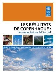 LES RÉSULTATS DE COPENHAGUE : - UNDPCC.org