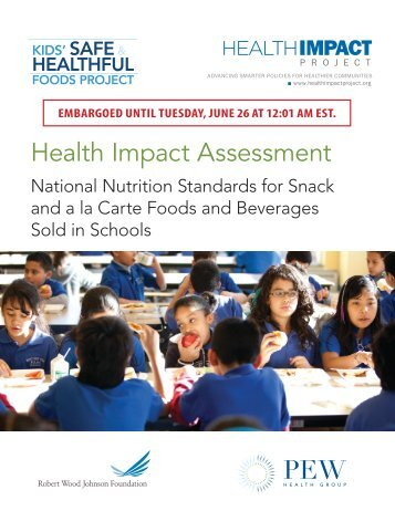 National Nutrition Standards for Snack and a la Carte Foods - Blogs