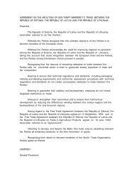 agreement on the abolition of non-tariff barriers to trade ... - WITS