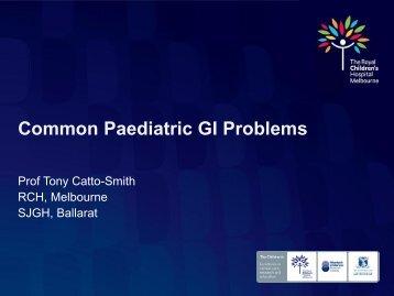 Common Paediatric GI Problems
