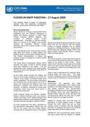 FLOODS IN NWFP PAKISTAN – 17 August 2009 - OneResponse