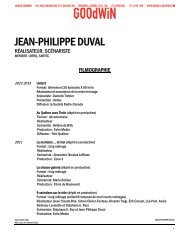 JEAN-PHILIPPE DUVAL - Agence Goodwin