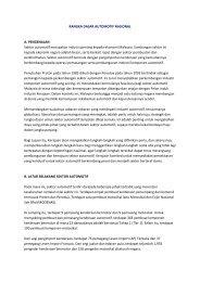 RANGKA DASAR AUTOMOTIF NASIONAL A. PENGENALAN Sektor ...