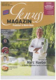 Genuss Magazin Journal Frankfurt Juni 2011 - Villa Merton