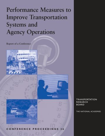Conference Proceedings 26 - Transportation Research Board