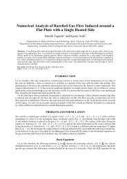 Numerical Analysis of Rarefied Gas Flow Induced around a Flat ...