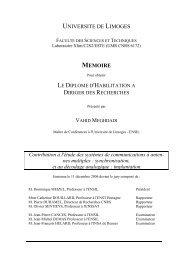 UNIVERSITE DE LIMOGES MEMOIRE - Université de Limoges