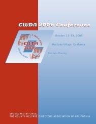 CWDA 2006 Conference CWDA 2006 Conference