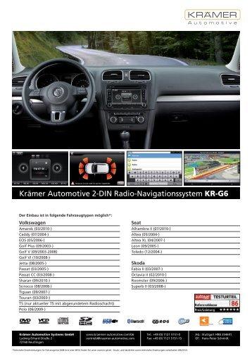 Krämer Automotive 2-DIN Radio-Navigationssystem KR-G6