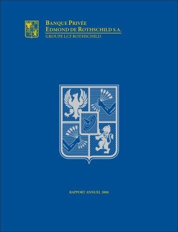 Rapport annuel 2008 - Banque Privée Edmond de Rothschild